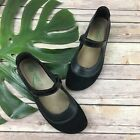 Naot Mary Jane Flats Size 38 7 Black Suede Comfort Strap Round Toe Shoes