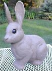 Vintage LAWNWARE Realistic Brown Bunny Rabbit Blowmold Blow Mold Yard Ornament B