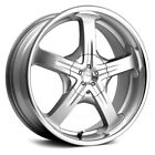 Pacer 774Ms Reliant Wheels 15x7 Silver with Machined Lip +40 4x1143