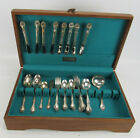 50 Pc Oneida AFFECTION Flatware Set With Case Community Silverplate
