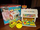 VINTAGE FISHER PRICE LITTLE PEOPLE SCHOOL HOUSE  BOX 923 1st VERSION 1971
