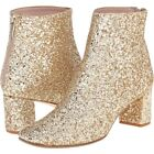 kate spade Tai Mod Booties Gold Glitter sz 75 425 made in Italy NEW