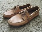 EUC SPERRY TOP SIDER MENS BOAT SHOES A O 2 EYE SAHARA SIZE 13 XW