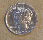 1921 PEACE DOLLAR VERY FINE DETAILS CLEANED