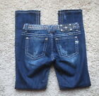 Miss Me JP5130ST Straight in VTG 12 Wash Stretch Low Rise Womens Jeans Sz 27 31