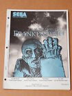 SEGA NOS 1994 MARY SHELLEY'S FRANKENSTEIN Pinball Manual