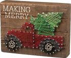 Christmas RED TRUCK w/ TREE String Art Making Merry Primitive Look Home Decor