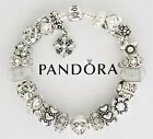 Authentic Pandora Charm Bracelet with Love Heart Gift Silver European Charms
