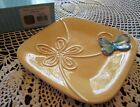 Fitz & Floyd LIVING COLOR Canape Plate Beautiful With Raised BUTTERFLY
