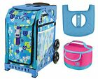 Zuca Sport Bag Be Zappy with Lunchbox and Seat Cover Blue
