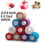 10PCS Self Adhesive Bandage Rolls Strong Elastic Adherent Tape First Aid Wrap US