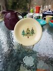 SALAD PLATE trio of trees HOMER LAUGHLIN FIESTA WARE 7.25