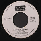 MAJOR LANCE: Shadows Of A Memory / Sweeter As The Days Go By 45 (dj, funky Soul