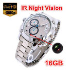 1080P 16GB Night Vision Waterproof Spy Watch Camera Hidden camcorder Pinhole DVR