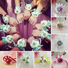 Beautiful Wrist Corsage Bracelet Bridesmaid Sisters Hand Flowers Wedding Party