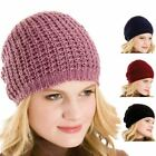 GL245- Ladies RJM Chunky Knitted Slouch Beanie Hat with Metallic Thread