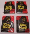 1976 TOPPS KING KONG 4 WAX PACKS TRADING CARDS SEALED UNOPENED MOVIE STICKER P4