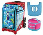 Zuca Sport Bag Be Zappy with Lunchbox and Seat Cover Red