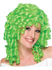 Womens Lime Green Curly Top Ringlet Clown or Loopsy Doll Costume Wig