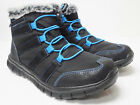J1691 New Womens Tony Little Cheeks Sporty Lace Ankle Boot Black Blue 6 M