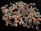 Vintage Small Metal Mix Letter Cabs Findings Alphabet Soup 200