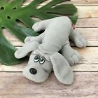Pound Puppies Vintage Plush Small Gray Hound Dog Pup Stuffed Animal 9 inches