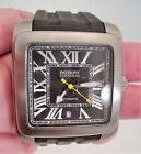 ROTARY EDITIONS Automatic Watch Rubber Strap See-Thru Back  - Works Great