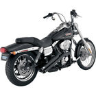 VANCE  HINES SIDESHOTS EXHAUST BLACK HARLEY DYNA FXDWG WIDE GLIDE FXDF FAT BOB