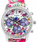 GUESS LADIES STAINLESS W0903L1 /U0903L1 FLOWER WATCH, NWT IN GUESS CASE, NEW