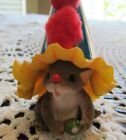 Charming Tails CHEERS #89/192 Fitz & Floyd NIB Mouse Peeking Out Party Hat AS IS