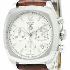 Polished TAG HEUER Monza Chronograph Steel Automatic Mens Watch CR2114 BF314747