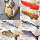 New Pet Kitten Cat Fish Shape Mint Catnip Chewing Play Catnip Scratch Toy