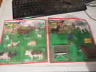 VINTAGE BRITAINS FARM ANIMAL TOY LOT 1 32 ENGLAND HAND PAINTED 7176 7165 ON CARD
