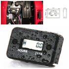 Waterproof Black Car Motorcycle Generator Engine Digital LCD Counter Hour Meter