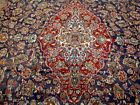 10X14 1940s GORGEOUS AUTHENTIC HAND KNOTTED 70+YRS ANTQ WOOL KASHAN PERSIAN RUG
