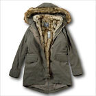 NWT AbercrombieFitch by Hollister 3 In 1 Faux Shearling Fur Lined Parka Jacket
