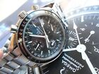 V Clean S/S Men's Omega Speedmaster Automatic Chronograph Triple Date Watch Runs