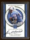 EARL CAMPBELL 2017 PANTHEON AUTO 1 1 ??? 2 SIGNATURE ON THE SAME CARD HOF RARE