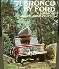 1971 Ford Truck Sales Brochure Dealer Original Bronco Sport Wagon Pickup 4 X 4