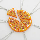 BEST FRIENDS 1Pc Slice Pizza Charm Pendant Chain Necklace Friendship Decor Gift
