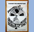 vintage ORIGMOVIE POSTER CHARLIE CHAPLIN GREAT DICTATOR MODERN TIMES theater