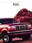 1992 Ford Bronco Original Car Sales Brochure Catalog Nite XLT Sport