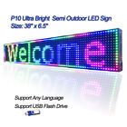 38x 65 RGB Full Color P10 LED Sign Programmable Scrolling Message Display