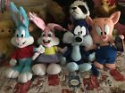 Applause Tiny Toons Lot of 4 Babs Bunny Buster Bunny Furrball and Hamton Pig