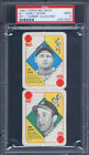 1951 Topps Red Back Panel Early Wynn & Tommy Glaviano PSA 9 Indians Cardinals