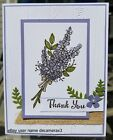 THANK YOU CARD KIT STAMPIN UP LOTS OF LAVENDER FLOWERS HANDMADE