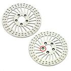 Front + Rear Brake Disc Rotor for 84-99 Softail Heritage Fat Boy Dyna 1340 FXDB