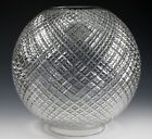 RARE Antique Cut Glass 8 Ball Lamp Shade Gone With the Wind Excellent Cond