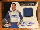 Jimmie Johnson authentic autograph card and raced used firesuit 29 30
