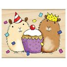 PENNY BLACK RUBBER STAMPS PARTY CRITTERS STAMP NEW wood STAMP
